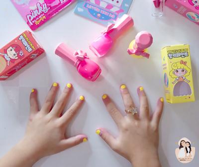 Pink Princess Kid-friendly makeup and nail polish review by life with ZG