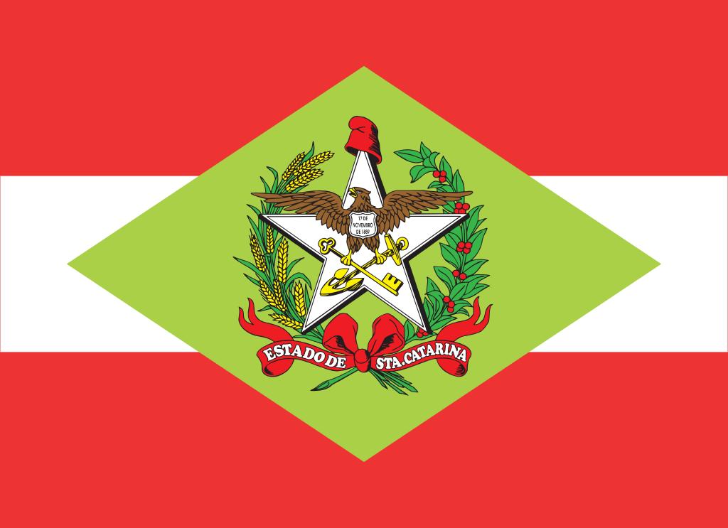 Bandeira do estado brasileiro de Santa Catarina