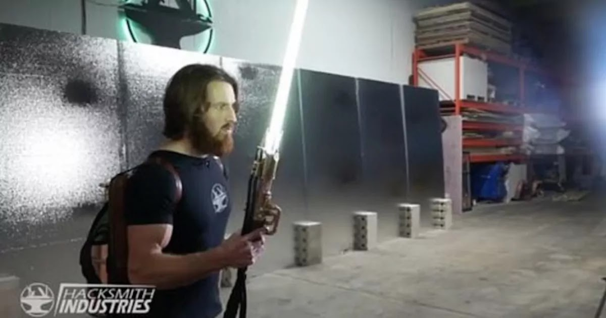 Canadian Engineer Builds Real-Life Star Wars Lightsaber That Cuts Through Steel