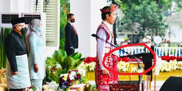 CEK FAKTA: Sepucuk Senjata Mengarah ke Perut Jokowi saat Upacara 17 Agustus 2020