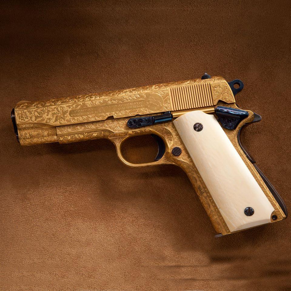 Χρυσό Colt Commander 1911 Πιστόλι (Φώτο) | guns-gr
