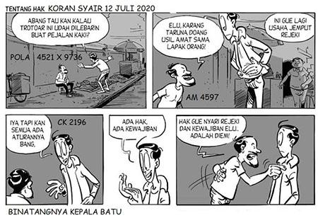 Koran Syair HK Minggu 12 Juli 2020