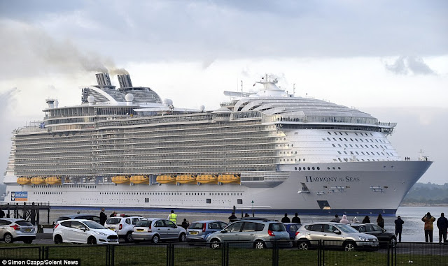 largest cruise ship in the word compared to titanic