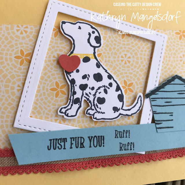 Stampin' Up! Happy Tails and Dog Builder Punch designed by Kathryn Mangelsdorf