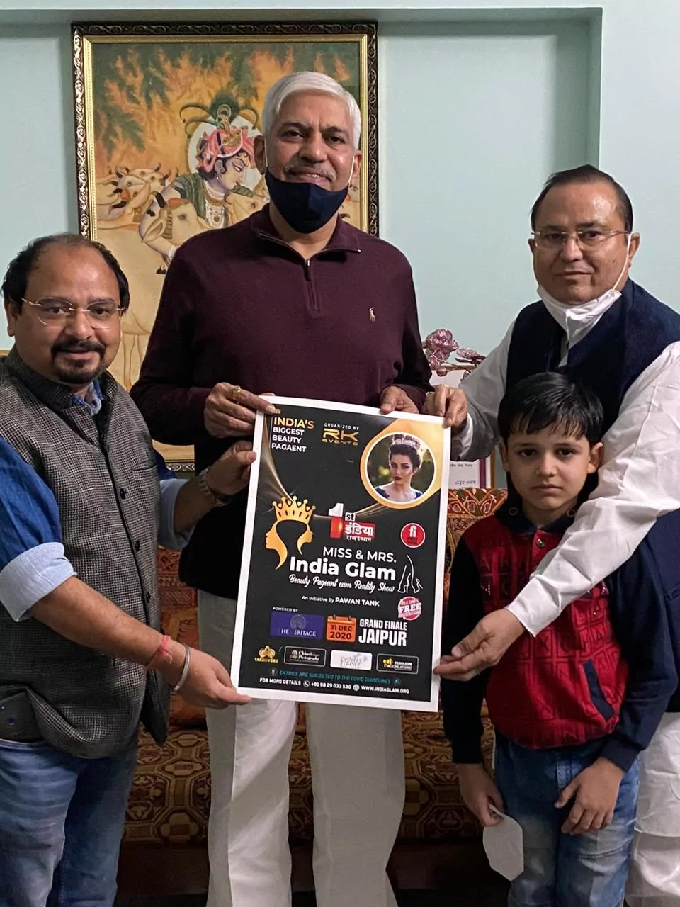 ACB-DG-Rajasthan-Police-released-the-poster-of-Miss-and-Mrs-India-Glam-to-be-organized-with-Covid-public-awareness-purpose