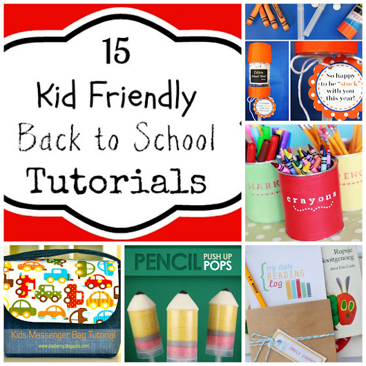 15 Great Back to School Ideas
