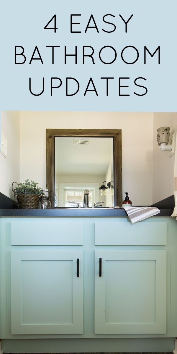 Four easy ideas for half bathroom updates!