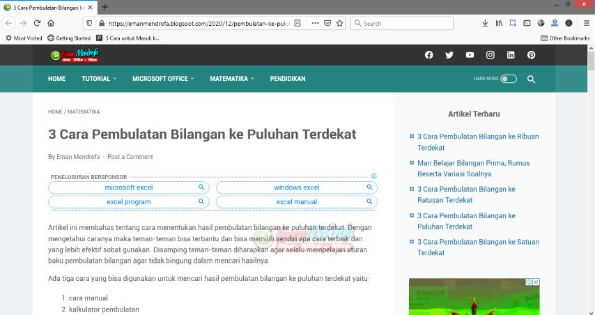 Contoh hyperlink dokumen word ke halaman website