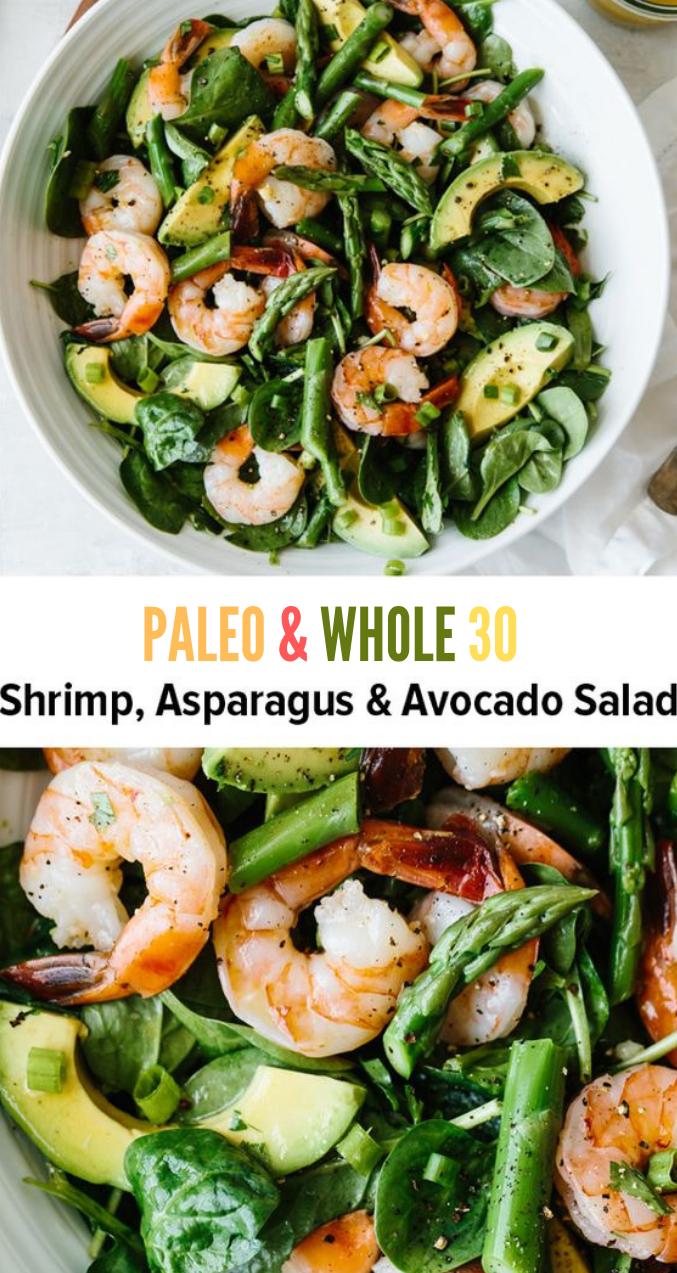 SHRIMP, ASPARAGUS AND AVOCADO SALAD #salad #diet