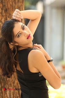 Actress Poojitha Pallavi Naidu Stills in Black Short Dress at Inkenti Nuvve Cheppu Movie Platinum Disc Function  0135.JPG