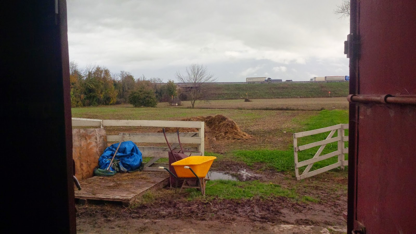 A muddy field at Ropes Ranch