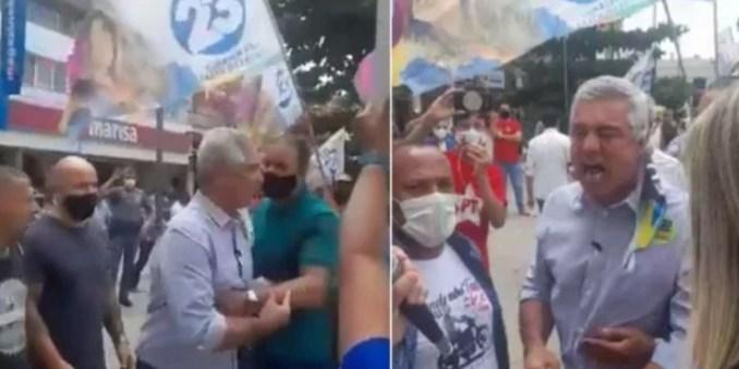 Senador Major Olímpio é chamado de traidor e vagabundo nas ruas durante campanha