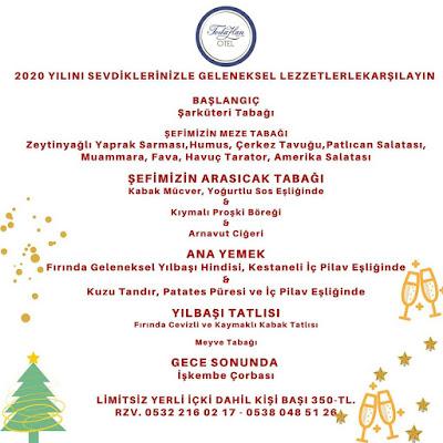 Hotel Toraban Bodrum Yılbaşı Programı 2020 Menüsü