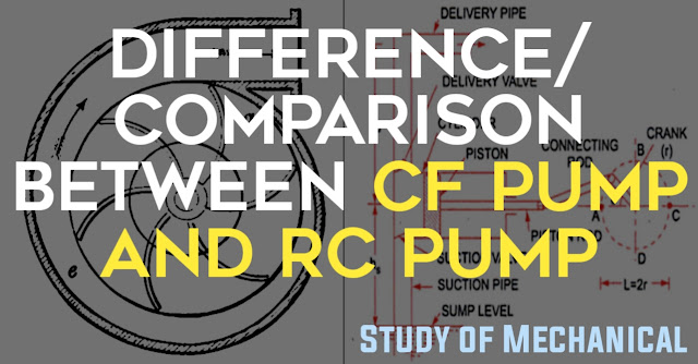 What is the difference between Centrifugal Pump and Reciprocating Pump | difference of cf pump and rc pump