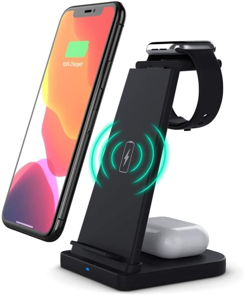QBA 3 in 1 Wireless Charging Station for iPhones