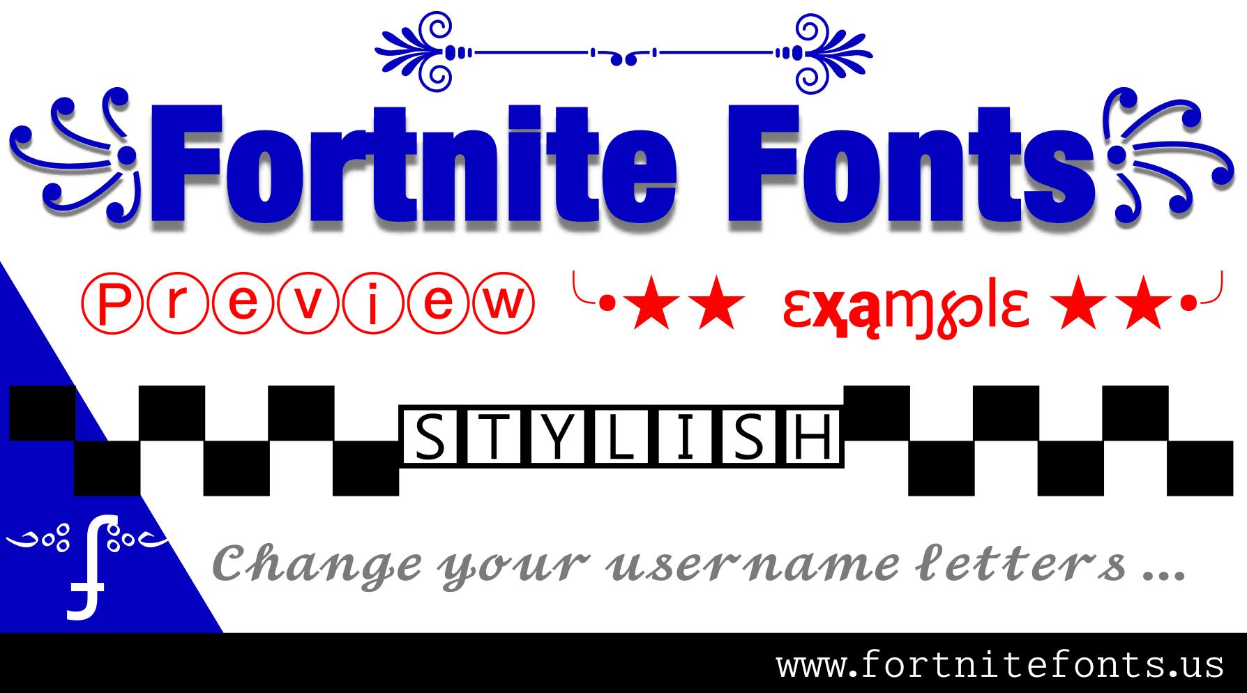 Fortnite Fonts