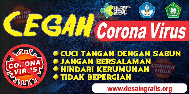 Banner Pencegahan Wabah Corona / covid19 cdr | Kumpulan ...