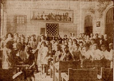 Jugadores y organizadores del Campeonato Infantil de Ajedrez Barcelona 1932