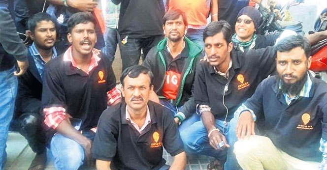 Swiggy-Delivery-Boys-Strike-At-Hyderabad