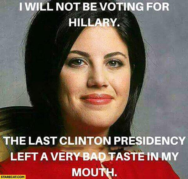 Monica Lewinsky Hillary Clinton Vote picture
