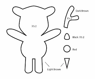 How to Make a Kawaii Rudolph Reindeer plushie template tutorial