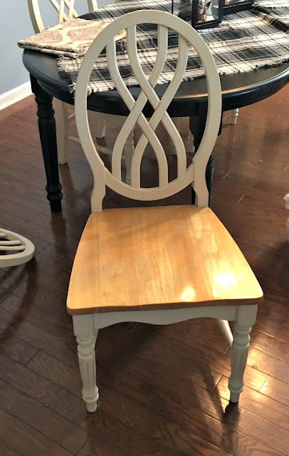 Vintage, Paint and more... how to upholster a wood chair seat using vintage looking fabric