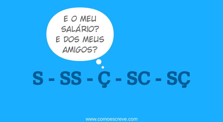 Uso do S, SS, Ç, SC, SÇ: Como empregar corretamente