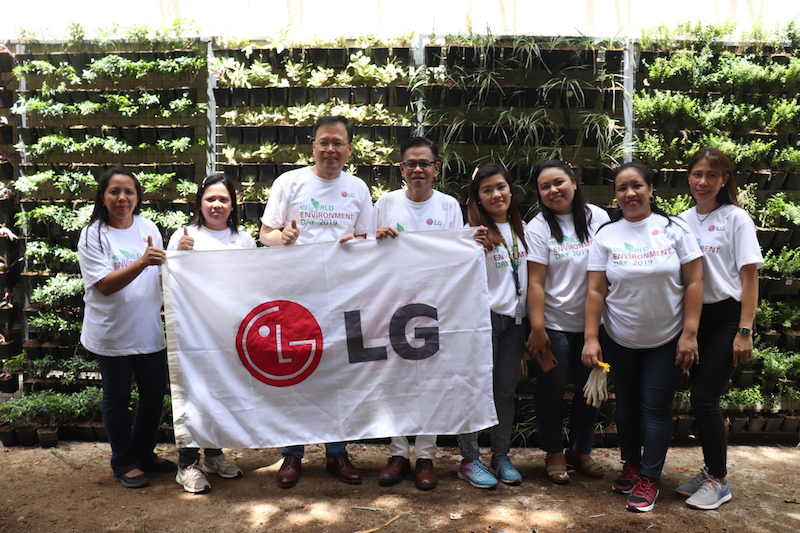 What LG did for their 2019 Corporate Social Responsibility project?