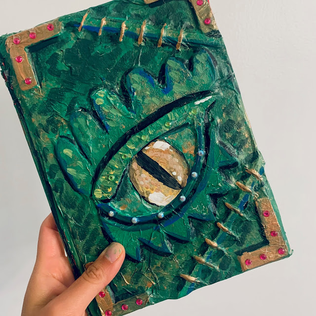 How to make Mod Podge and Tissue Paper Dragon Eye Book Craft