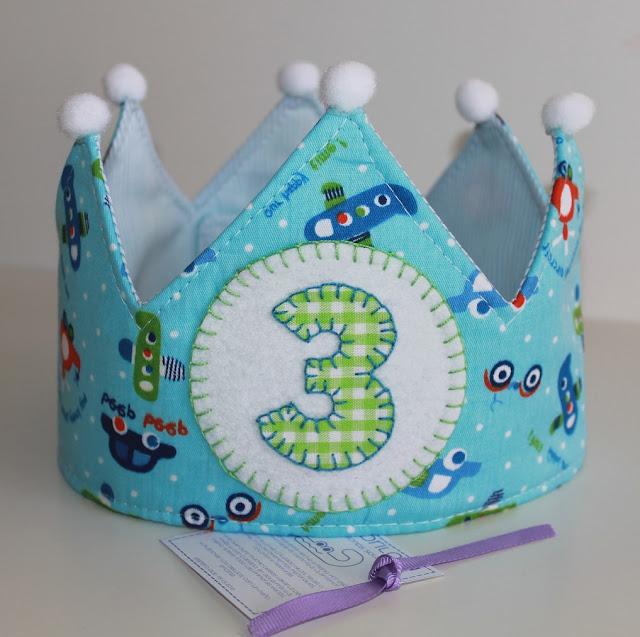 corona de cumpleaños 3 años