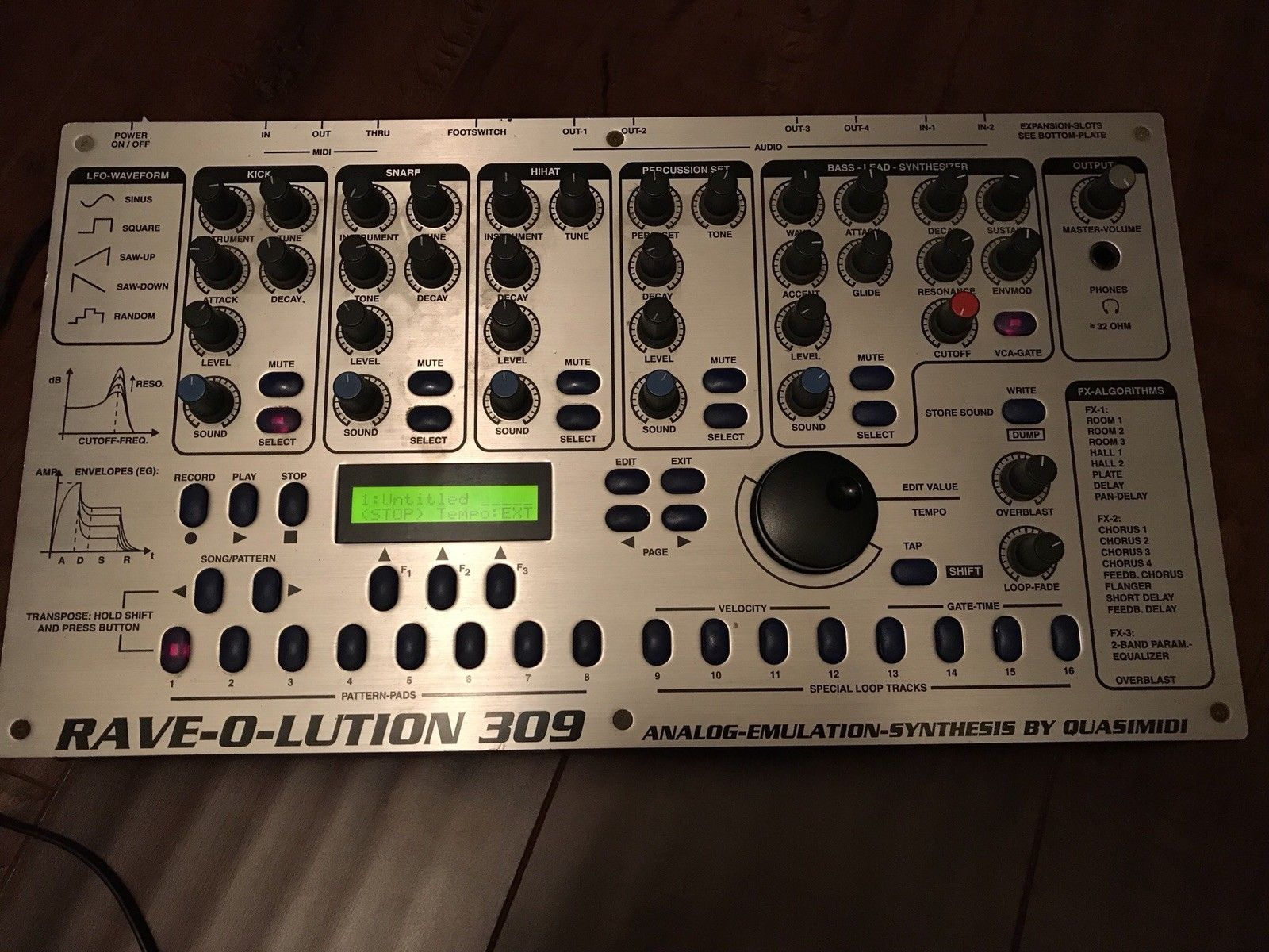 matrixsynth quasimidi rave o lution 309 synthesizer drum machine sequencer. Black Bedroom Furniture Sets. Home Design Ideas