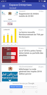 Application android espace entreprise acceuil