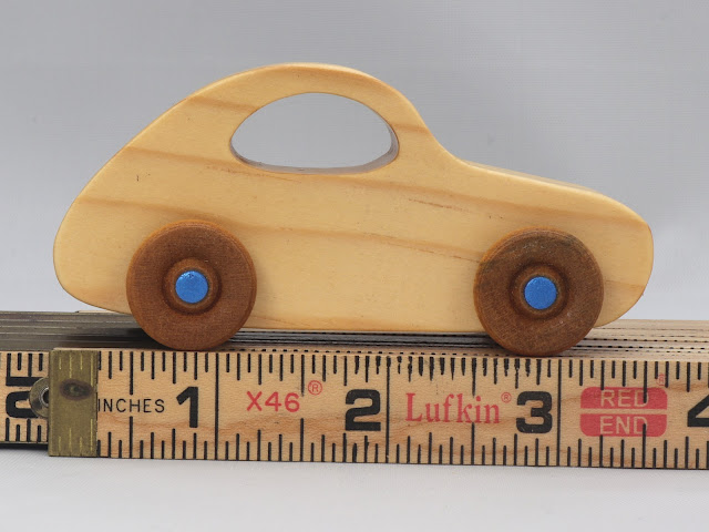 Handmade Wooden Toy Car VW Bug From The Play Pal Series