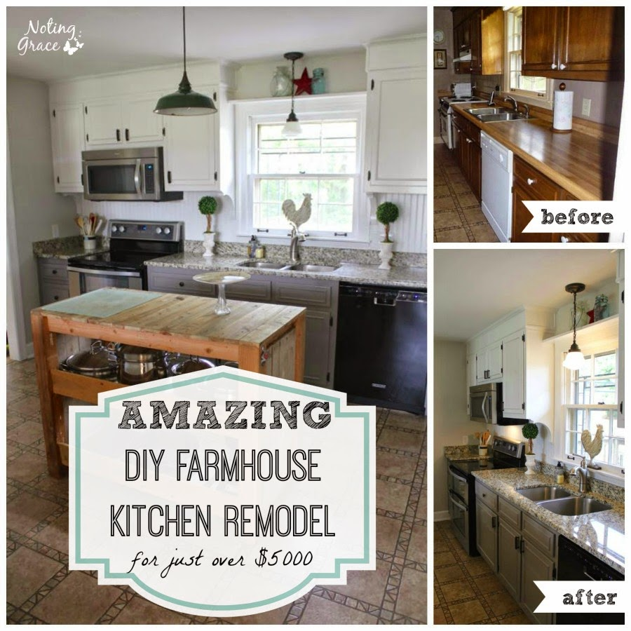 Bathroom Remodel For Under 5000: Noting Grace: Our Amazing $5000 Farmhouse Kitchen Remodel