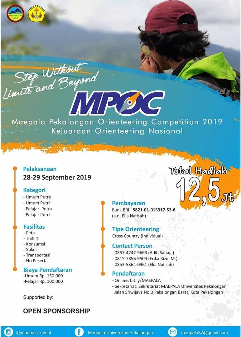 Maepala Pekalongan Orienteering Competition • 2019