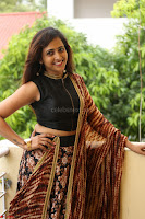 Lasya looks super cute in black choli Saree at Raja Meru Keka Press Meet ~  Exclusive 021.JPG