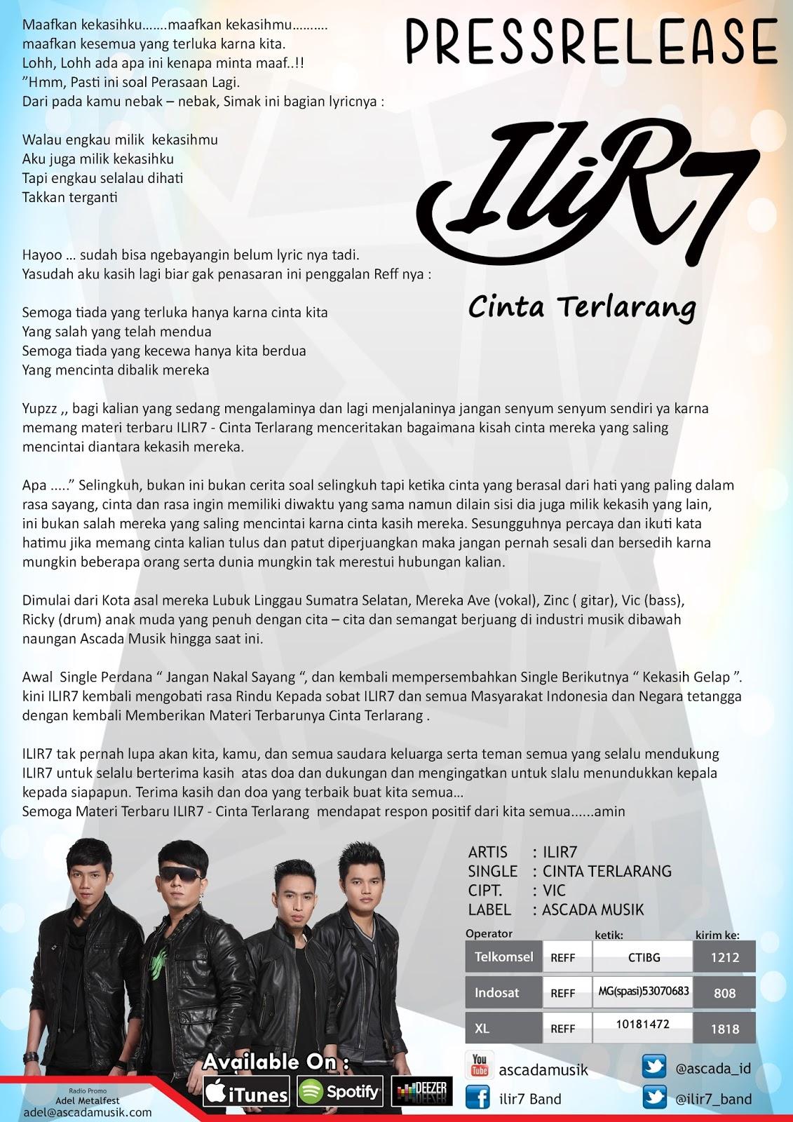 Cinta Terlarang Single Terbaru Ilir 7 Baturaja Radio Etnikom Network