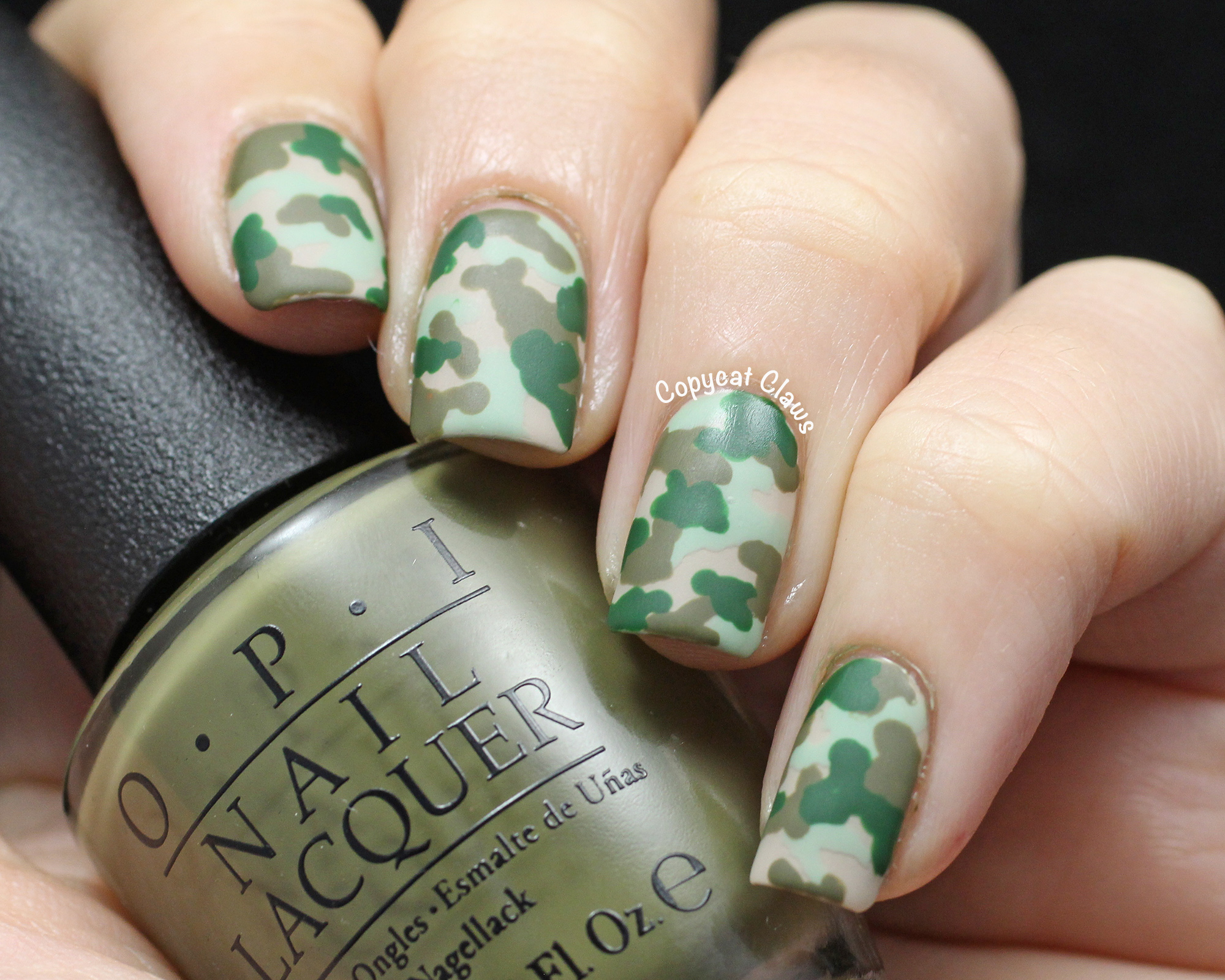 Copycat Claws: Camo Nail Art & OPI Did You 'Ear About Van Gogh