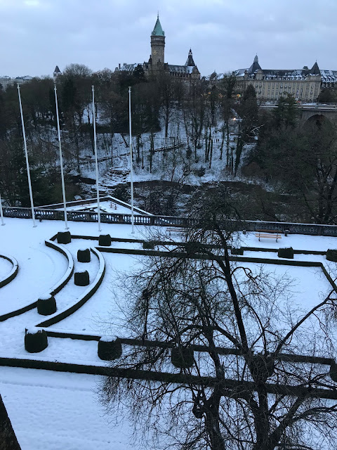 lussemburgo innevata