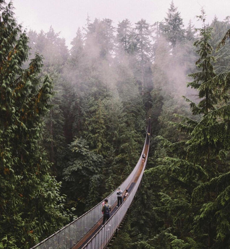 32 Stunning Places on Earth You Should Visit Before You Die - Capilano Suspension Bridge, Vancouver