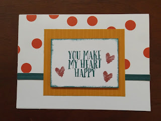 CTMH Card Using Happy Heart Stamp and Enchantment Paper