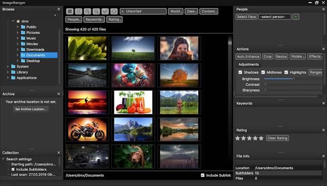 Screenshot ImageRanger Pro 1.6.4.1422 Full Version