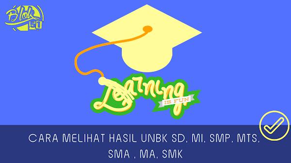 Cara Melihat Hasil UNBK SD, MI, SMP, MTs, SMA , MA, SMK