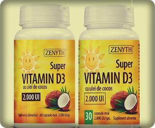 Super Vitamina D3 2000UI ZENYTH opinii forum recenzii