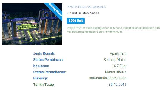 Syarat Permohonan Perumahan Penjawat Awam 1Malaysia (PPA1M)