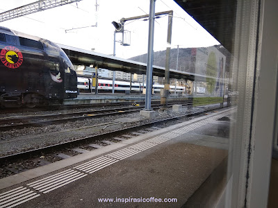 Kereta Stadler di Stasiun Biel Bienne
