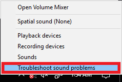 Trobleshoot sound problems
