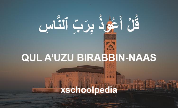 Qul A'udzu Birabbinnas Artinya