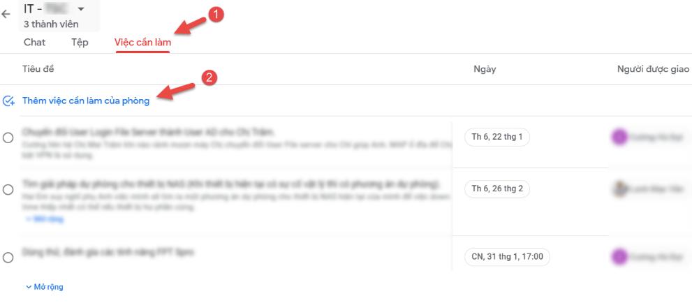 Tính năng Chat Meet trên Google Workspace