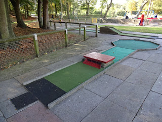 Crazy Golf course at Hesketh Park in Southport